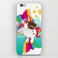Chestnut Girl And Starli… iPhone & iPod Skin