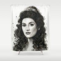 Deanna Troi Shower Curtain