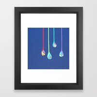 Jewel Drops Papercut Framed Art Print