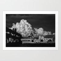 Clouds & Suspects I Art Print