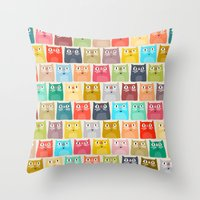 Summer Cats Throw Pillow