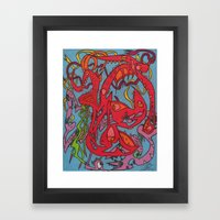 Matching Slashes Framed Art Print