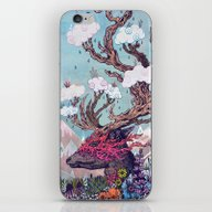 iPhone & iPod Skin featuring Journeying Spirit (deer) by Mat Miller