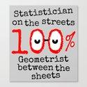 Math Geek Canvas Print