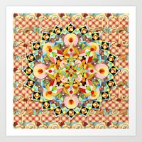 Bijoux Carousel Mandala Plaid Art Print