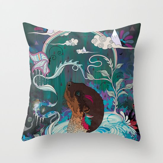 Delicate Distraction Throw Pillow