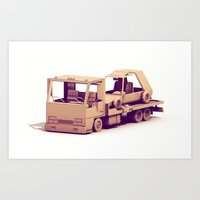 Race Car Hauler Art Print