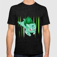 Grass Pocket Monster - 001 Mens Fitted Tee Tri-Black SMALL