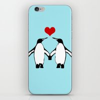 Penguins In Love iPhone & iPod Skin