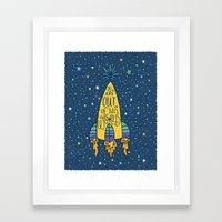 YOU ARE OUT OF THIS WORLD Framed Art Print