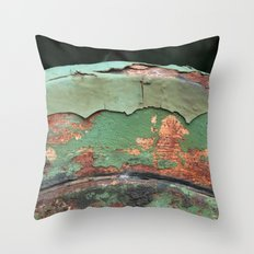 Green and Rust Throw Pillow