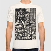 Hip Hop Mens Fitted Tee Natural SMALL