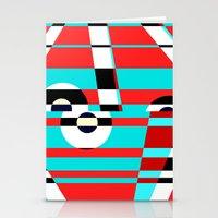 Grid Square TV Crazy Stationery Cards