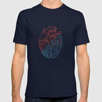Love is...heart and reason Mens Fitted Tee Navy SMALL