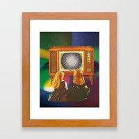 TV GIRLS Framed Art Print