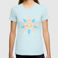 Wind rose Womens Fitted Tee Light Blue SMALL