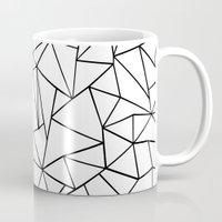 Abstract Outline Black O… Mug