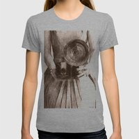 Girl With Camera Womens Fitted Tee Athletic Grey SMALL