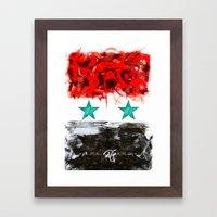Pray For Syria Framed Art Print