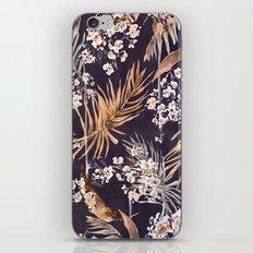 Golden oriental palms iPhone & iPod Skin