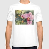 Orchid Beauty Mens Fitted Tee White SMALL
