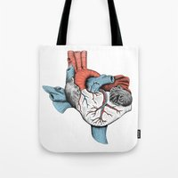 The Heart of Texas (Red, White and Blue) Tote Bag