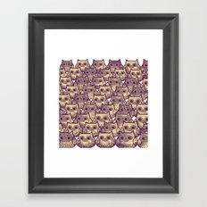owl-826 Framed Art Print
