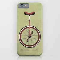 iPhone & iPod Case featuring Unicycle by Wyatt Design