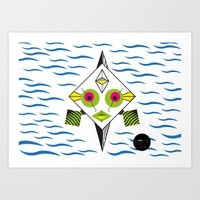 Postmodern Fish Art Print