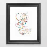 Who Are Your Heroes? Framed Art Print