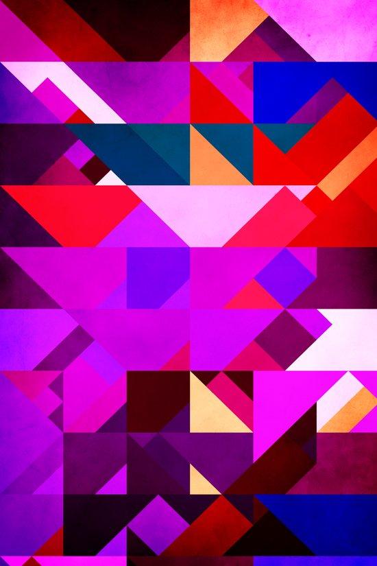 Triangle Violet Art Print