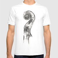 Scroll Mens Fitted Tee White SMALL