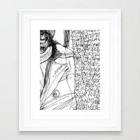 Line and Words - 2 Framed Art Print