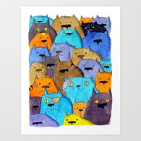 The Cats Of Verdun Art Print