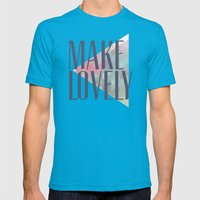 Make Lovely // Leaf Mens Fitted Tee Teal SMALL