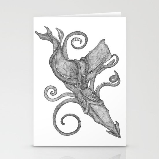 Whale Vs. Squid Stationery Card