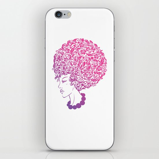 Ms. Floral iPhone & iPod Skin