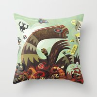 Tsuna me  Throw Pillow