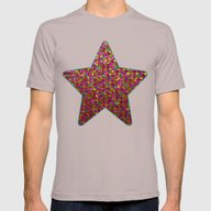 Polka Dot Sparkley Stras… Mens Fitted Tee Cinder SMALL