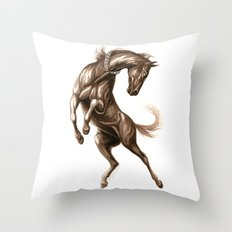 Ink Horse Throw Pillow