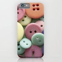 iPhone & iPod Case featuring Buttons, Buttons, Galore by Ginger Mandy