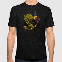 Robot Reptile Raygun Mens Fitted Tee Tri-Black SMALL
