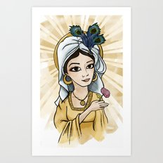 Princess Caraboo Art Print