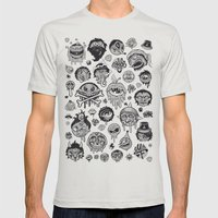 Characters Mens Fitted Tee Silver SMALL