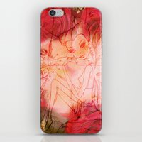 girl butterfly iPhone & iPod Skin