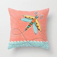 Summer Buzzin' Throw Pillow