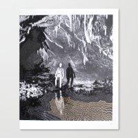 Cave Drawing I Canvas Print
