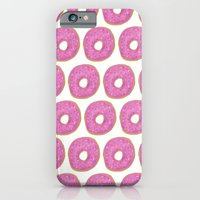 iPhone & iPod Case featuring Pink Frosted Donut by christinarashel