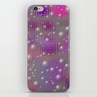 Disco made of purple bubbles iPhone & iPod Skin