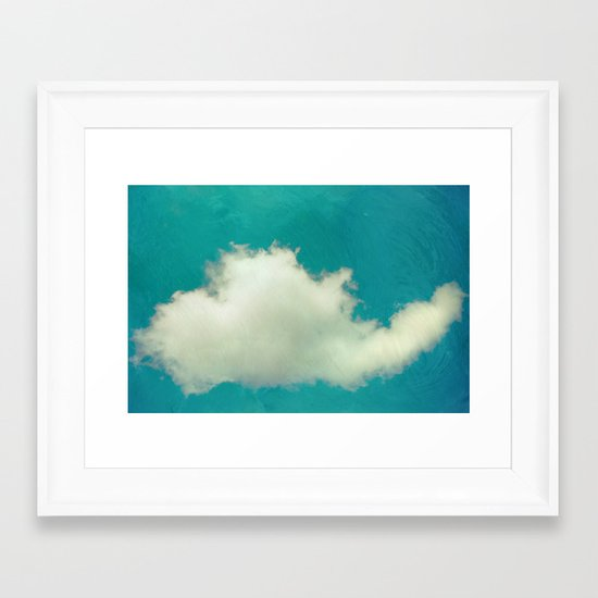 Genie in a Bottle.  Cloud Photography.  Turquoise Framed Art Print